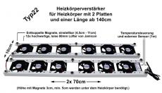 Sunsol 12L für 2-Platten Heizkörper ab 140cm